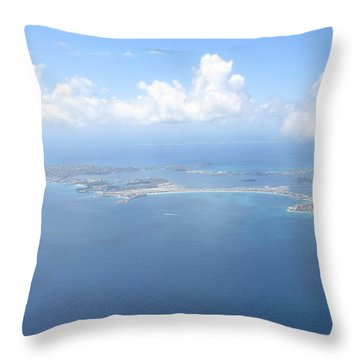 Simpson Bay St. Maarten Throw Pillow