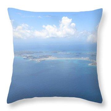 Simpson Bay St. Maarten Throw Pillow