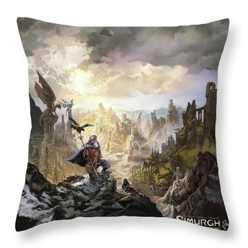 Simurgh Call Of The Dragonlord Throw Pillow
