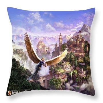Simurgh Throw Pillow