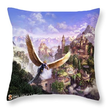 Simurgh Throw Pillow