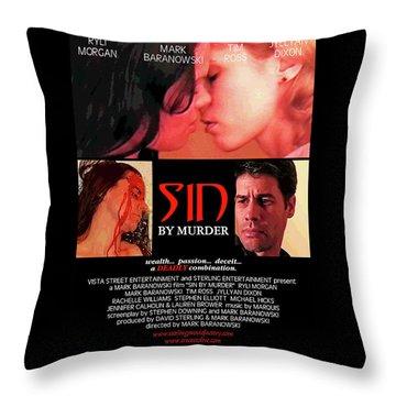 Sin By Murder Poster A Throw Pillow