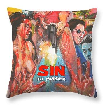 Sin By Murder Poster B Throw Pillow