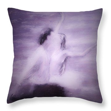 Swan Lake Throw Pillow by Jarko Aka Lui Grande