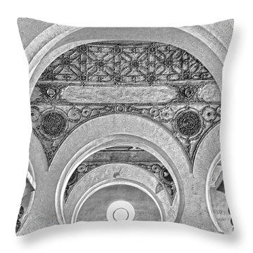 Throw Pillow featuring the photograph Sinagoga De Santa Maria La Blanca by Nigel Fletcher-Jones