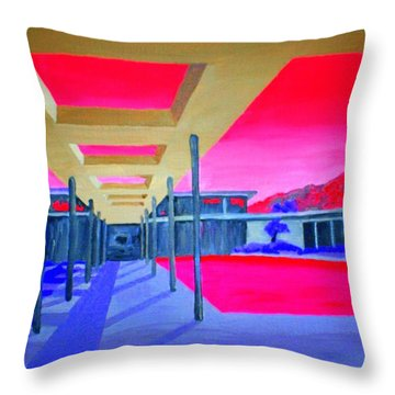 Sinatra House Four Throw Pillow by Randall Weidner
