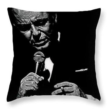 Sinatra W Sig Throw Pillow by Dan Menta