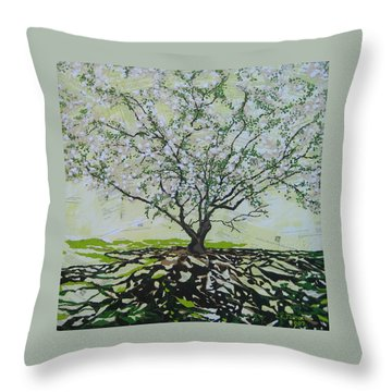 Sincerely-the Curator Throw Pillow by Leah  Tomaino