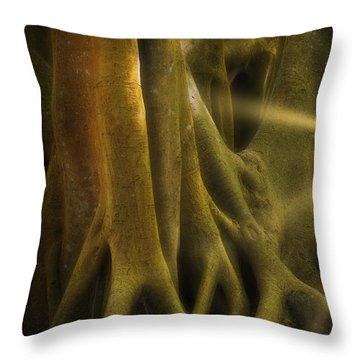 Throw Pillow featuring the photograph Sinews by Richard Goldman