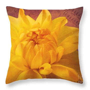Sinfonie Throw Pillow by Angela Doelling AD DESIGN Photo and PhotoArt