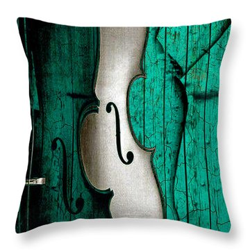 Sinful Violin Throw Pillow