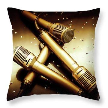 Sing Star Concert Throw Pillow