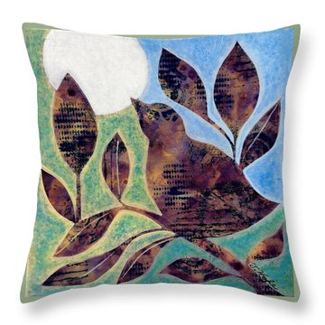 Sing Your Song Throw Pillow by Julie Hoyle