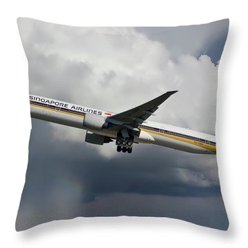 Singapore Airlines Throw Pillows
