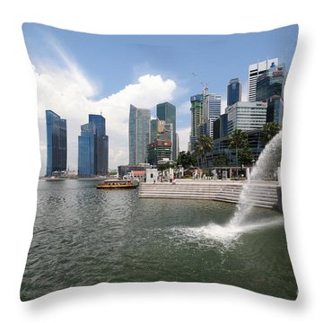 Singapore Throw Pillow by Charuhas Images