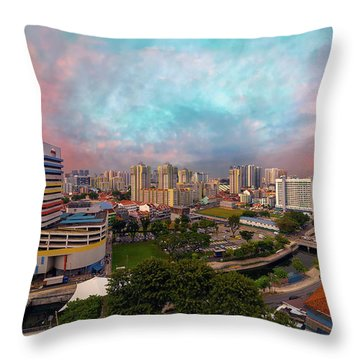 Singapore Rochor Commercial And Residential Mixed Area Throw Pillow by David Gn