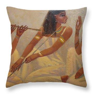 Singers Of Pharaoh Throw Pillow
