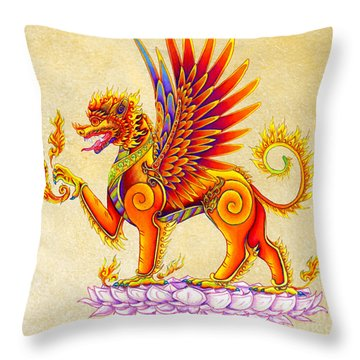 Singha Winged Lion Throw Pillow