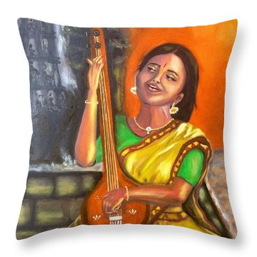Singing @ Sunrise  Throw Pillow