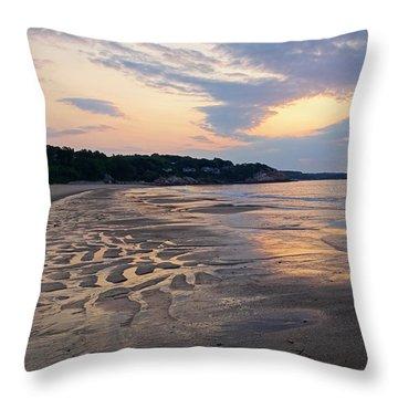 Singing Beach Sandy Beach Manchester By The Sea Ma Sunrise Throw Pillow