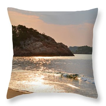 Singing Beach Silver Waves Manchester By The Sea Ma Throw Pillow