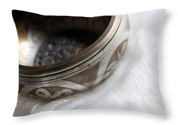 Singing Bowl Throw Pillow by Lynne Guimond Sabean