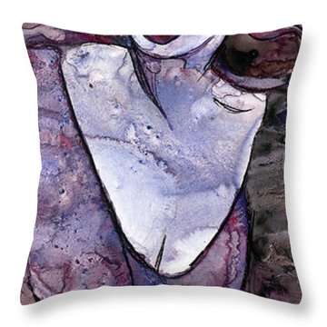 Singing Lady-rock And Roll Throw Pillow