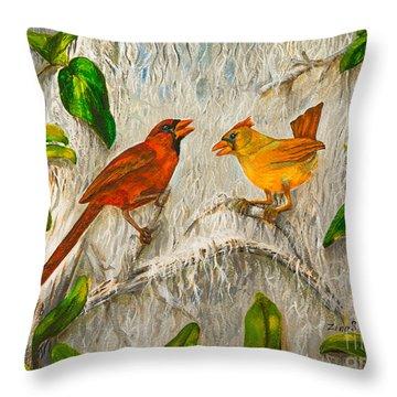 Singing Of Love Throw Pillow