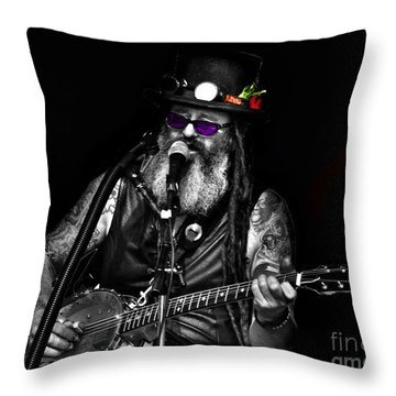 Singing Strings Throw Pillow by Blair Stuart