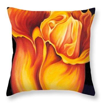 Singing Tulip Throw Pillow