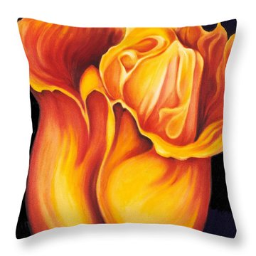 Singing Tulip Throw Pillow