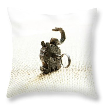 Single And Open Throw Pillow