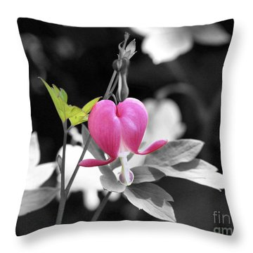 Single Bleeding Heart Partial Throw Pillow