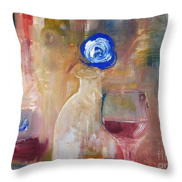 Single Blue And Looking Throw Pillow