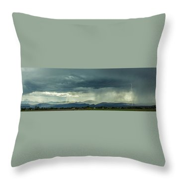 Throw Pillow featuring the photograph Single Bolt by Tyson Kinnison