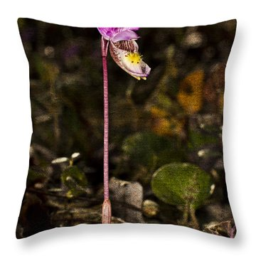 Single Fairy Slipper Throw Pillow