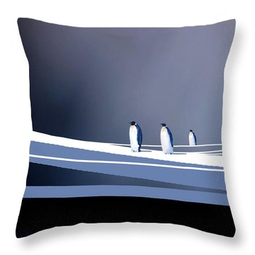 Single File Throw Pillow by Paul Sachtleben