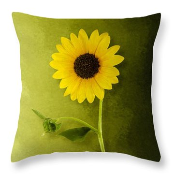 Throw Pillow featuring the photograph Single Long Stem Sunflower by Debi Dalio