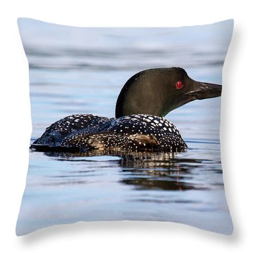 Single Loon Throw Pillow