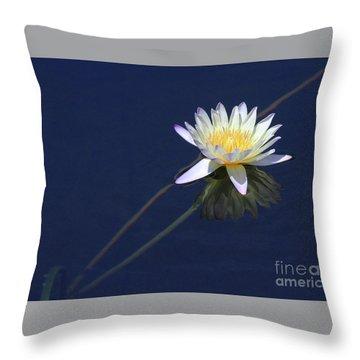 Single Lotus Throw Pillow