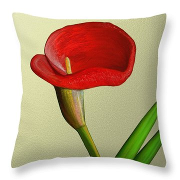 Single Pose Throw Pillow