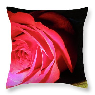 Single Rose  Throw Pillow