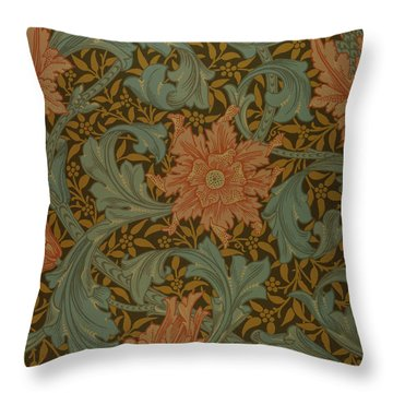 'single Stem' Wallpaper Design Throw Pillow by William Morris
