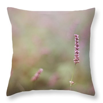 Single Wild Flower Throw Pillow