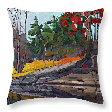 Singleton Autumn Throw Pillow