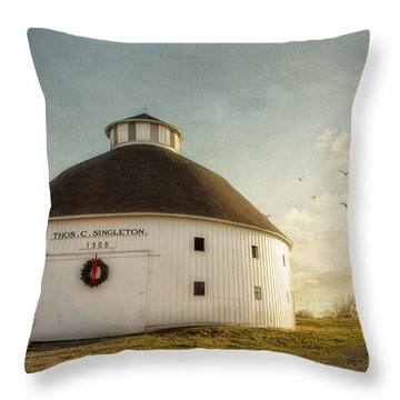 Singleton Round Barn Throw Pillow