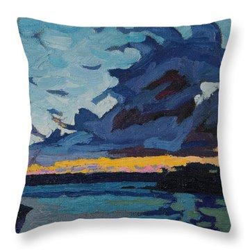 Singleton Sunset Stratocumulus Throw Pillow