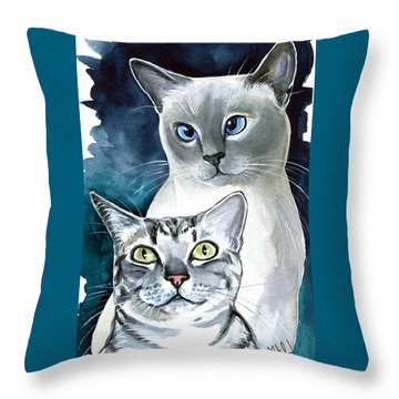Sini And Nimbus - Cat Portraits Throw Pillow