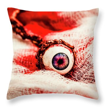 Sinister Sight Throw Pillow