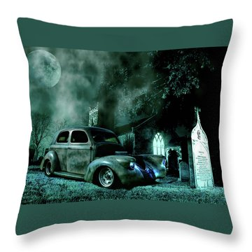 Sinister Throw Pillow by Steven Agius